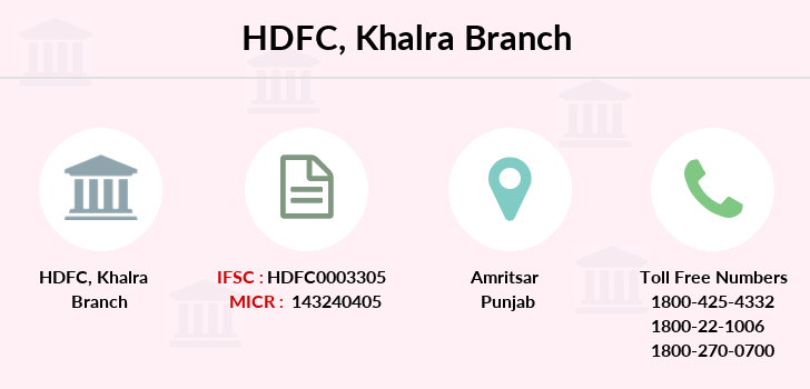Hdfc-bank Khalra branch