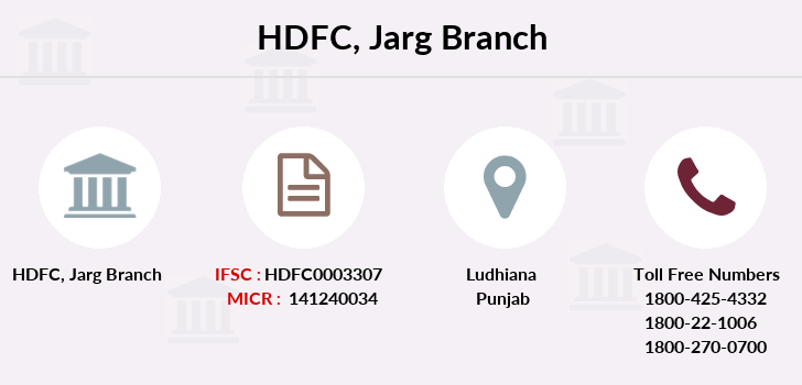 Hdfc-bank Jarg branch