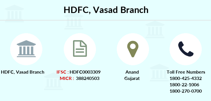 Hdfc-bank Vasad branch