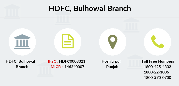 Hdfc-bank Bulhowal branch