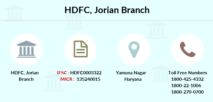Hdfc-bank Jorian branch