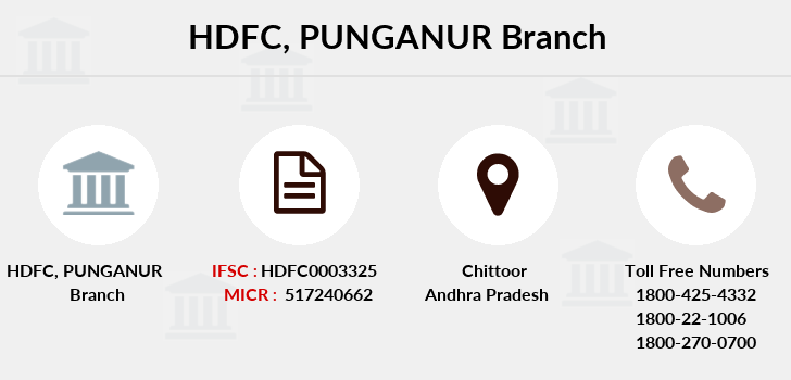 Hdfc-bank Punganur branch