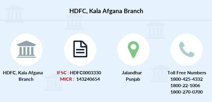 Hdfc-bank Kala-afgana branch