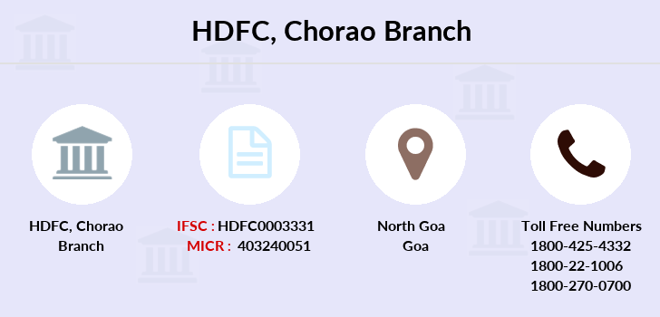 Hdfc-bank Chorao branch