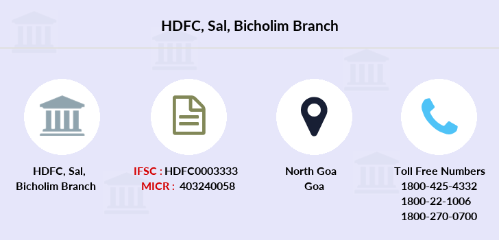 Hdfc-bank Sal-bicholim branch