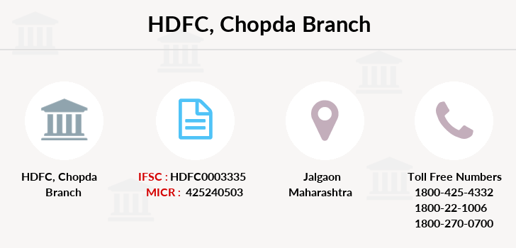 Hdfc-bank Chopda branch