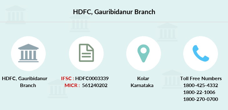 Hdfc-bank Gauribidanur branch