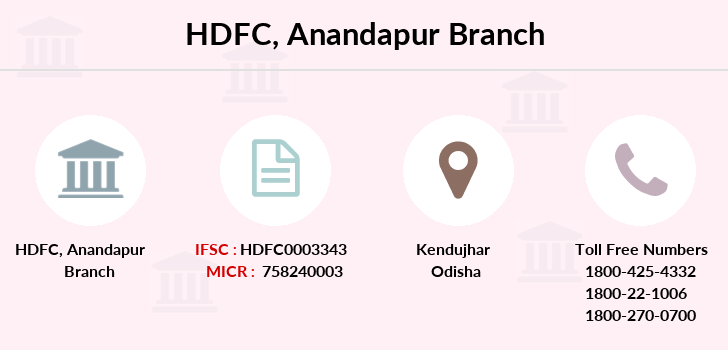 Hdfc-bank Anandapur branch