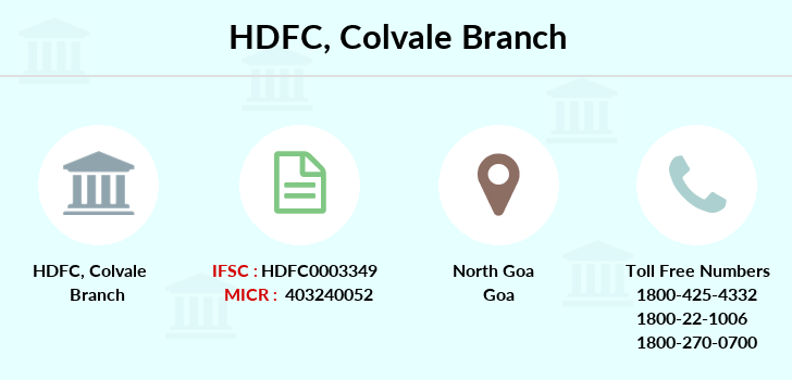 Hdfc-bank Colvale branch