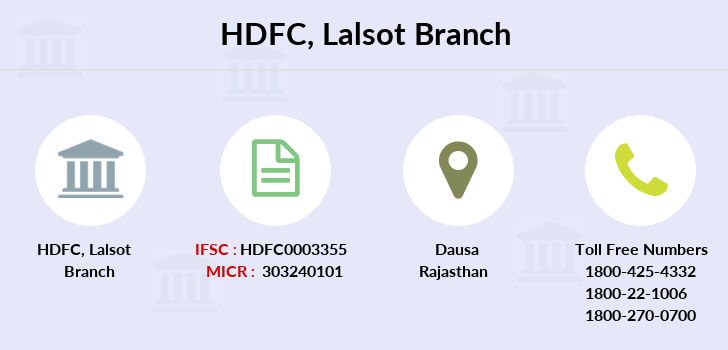 Hdfc-bank Lalsot branch