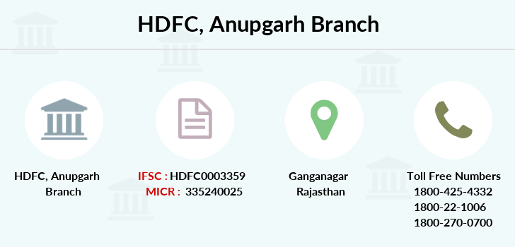 Hdfc-bank Anupgarh branch