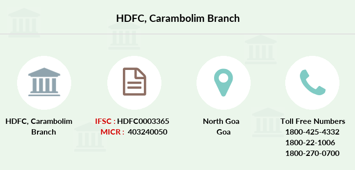 Hdfc-bank Carambolim branch