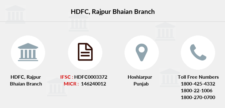 Hdfc-bank Rajpur-bhaian branch