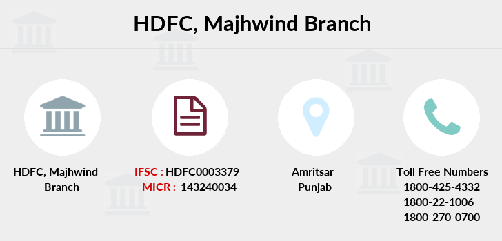 Hdfc-bank Majhwind branch