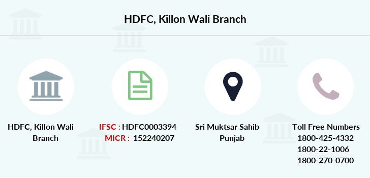 Hdfc-bank Killon-wali branch