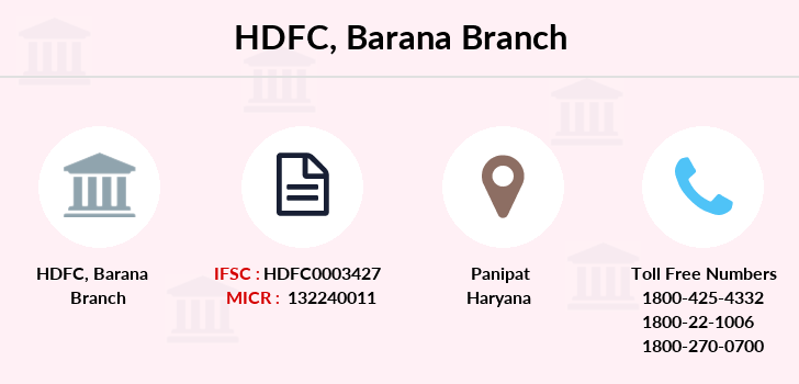 Hdfc-bank Barana branch