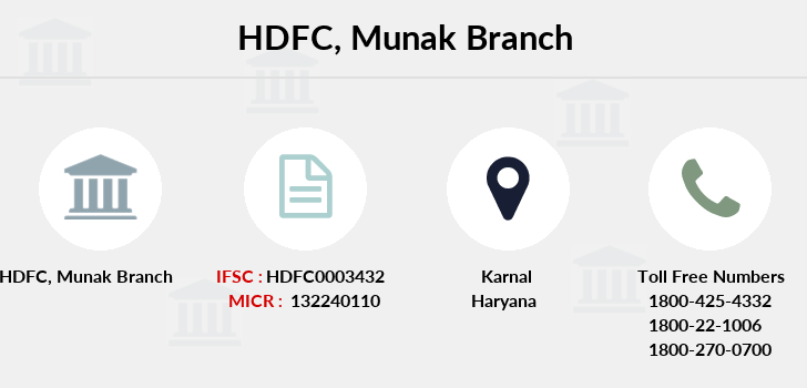 Hdfc-bank Munak branch