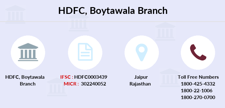 Hdfc-bank Boytawala branch