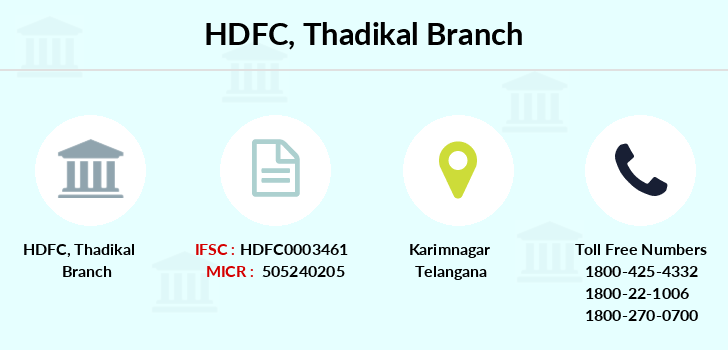 Hdfc-bank Thadikal branch