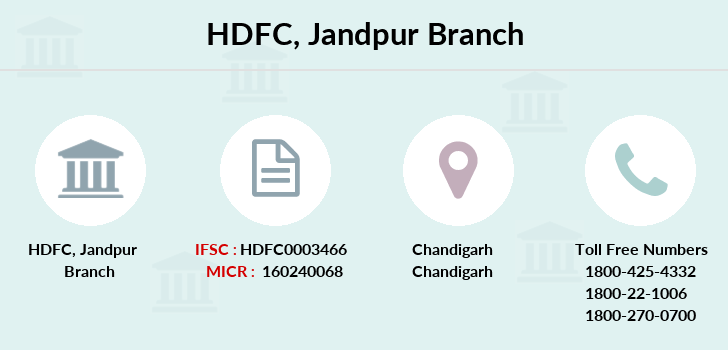 Hdfc-bank Jandpur branch