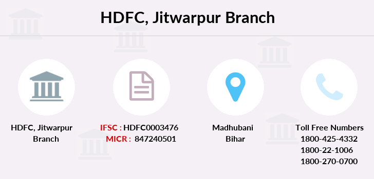 Hdfc-bank Jitwarpur branch