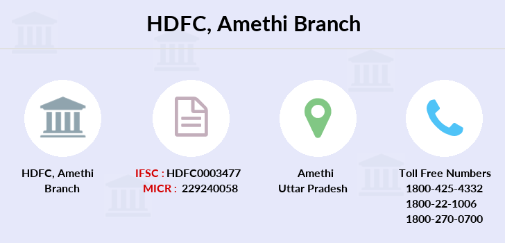 Hdfc-bank Amethi branch