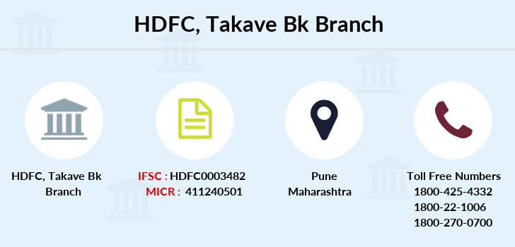 Hdfc-bank Takave-bk branch