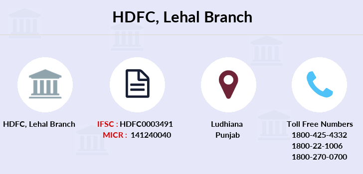 Hdfc-bank Lehal branch