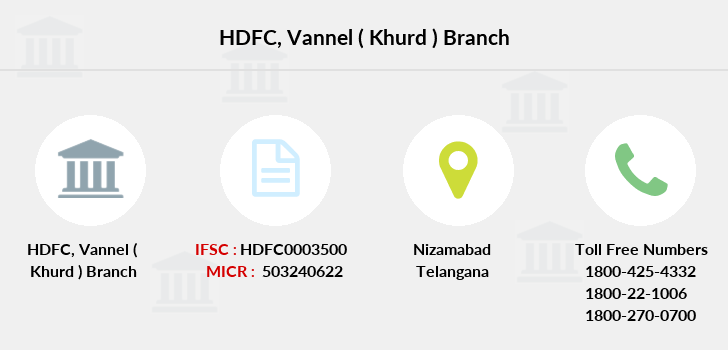 Hdfc-bank Vannel-khurd branch