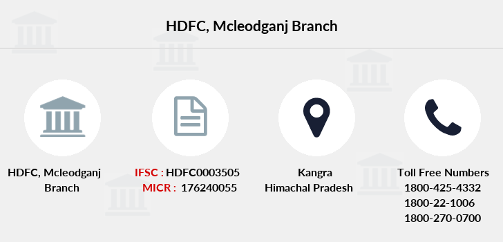 Hdfc-bank Mcleodganj branch