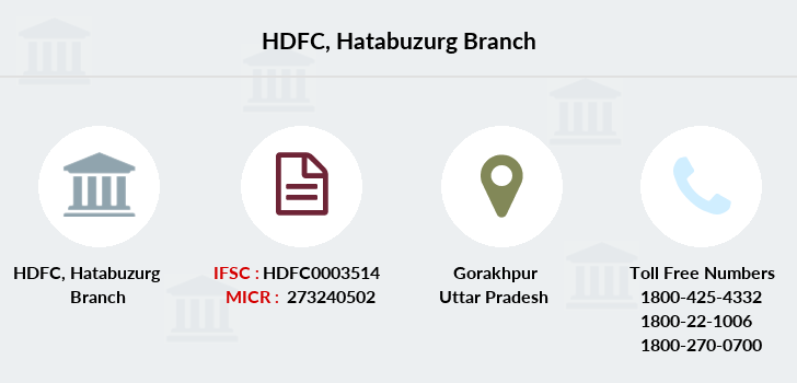 Hdfc-bank Hatabuzurg branch