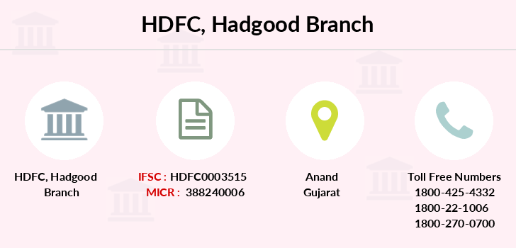 Hdfc-bank Hadgood branch