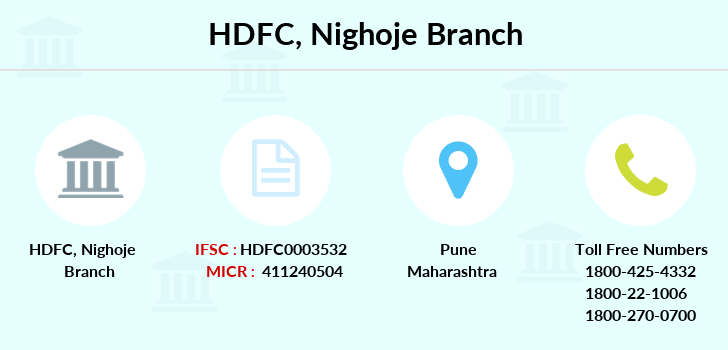 Hdfc-bank Nighoje branch