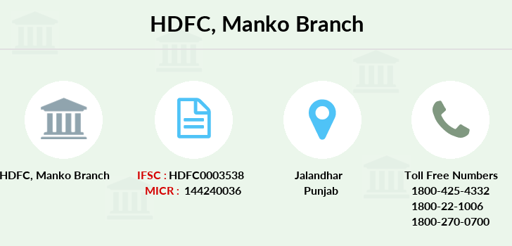 Hdfc-bank Manko branch