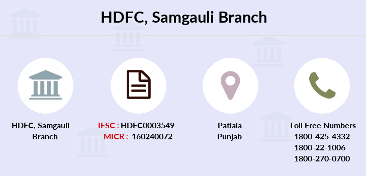 Hdfc-bank Samgauli branch