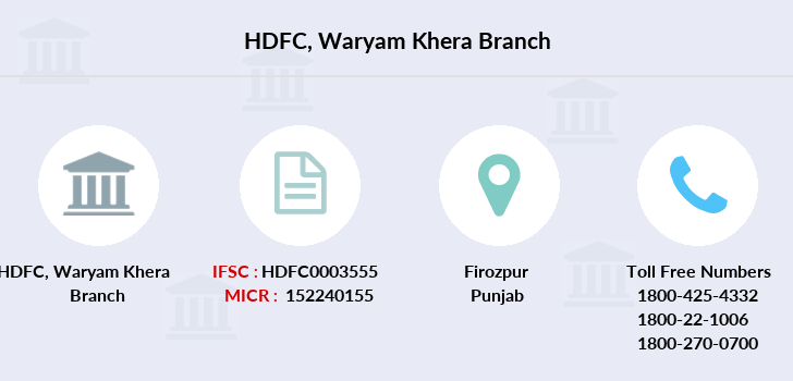 Hdfc-bank Waryam-khera branch
