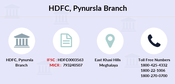 Hdfc-bank Pynursla branch