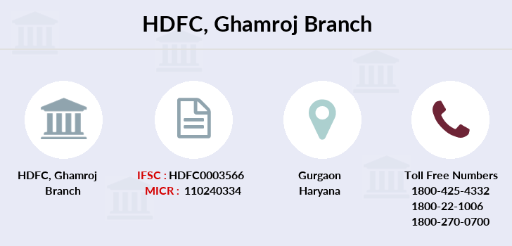 Hdfc-bank Ghamroj branch
