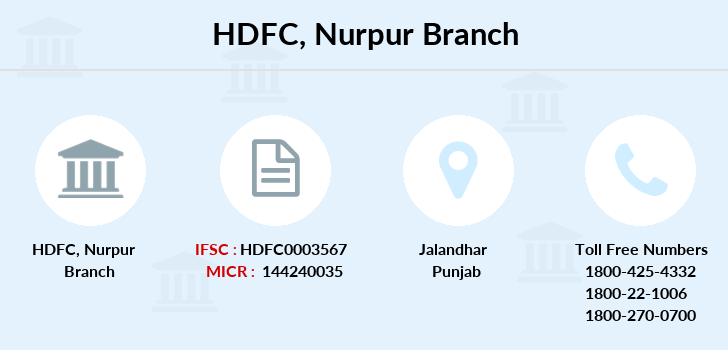 Hdfc-bank Nurpur branch