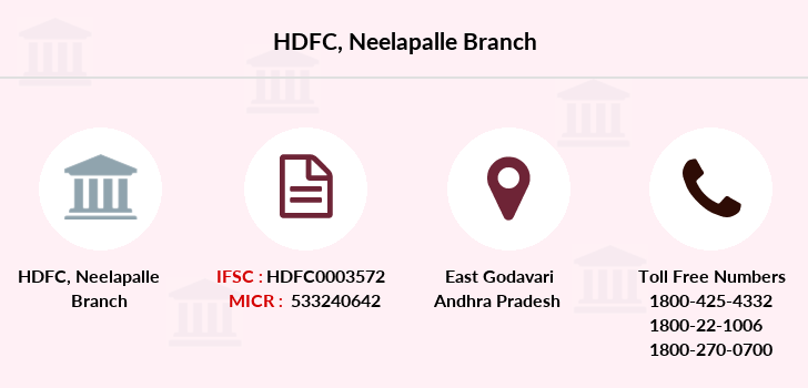 Hdfc-bank Neelapalle branch