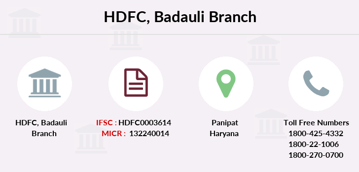 Hdfc-bank Badauli branch