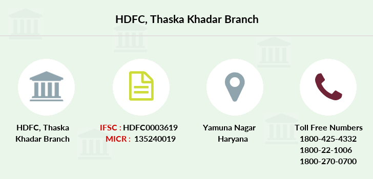 Hdfc-bank Thaska-khadar branch