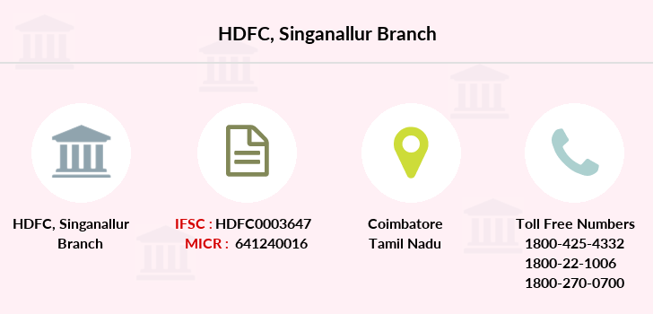 Hdfc-bank Singanallur branch