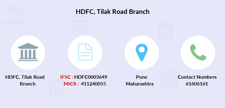 Hdfc-bank Tilak-road branch