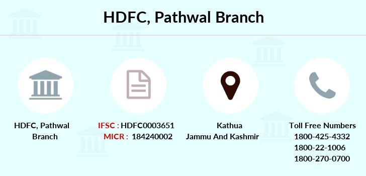Hdfc-bank Pathwal branch