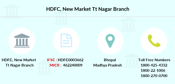Hdfc-bank New-market-tt-nagar branch