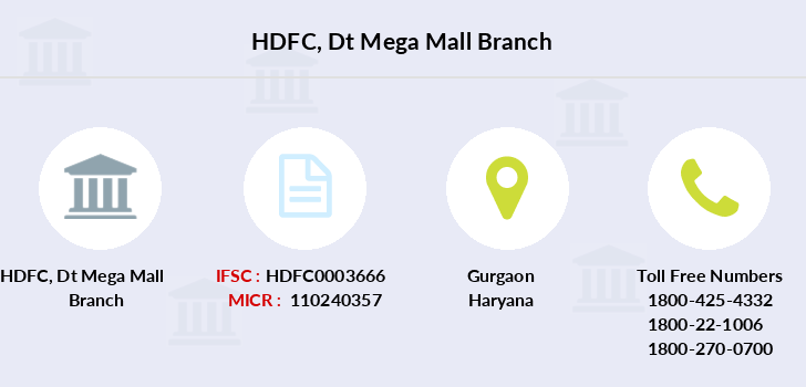 Hdfc-bank Dt-mega-mall branch