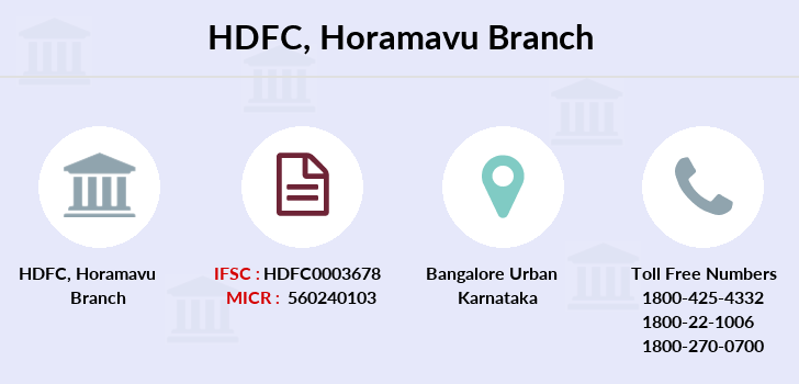 Hdfc-bank Horamavu branch