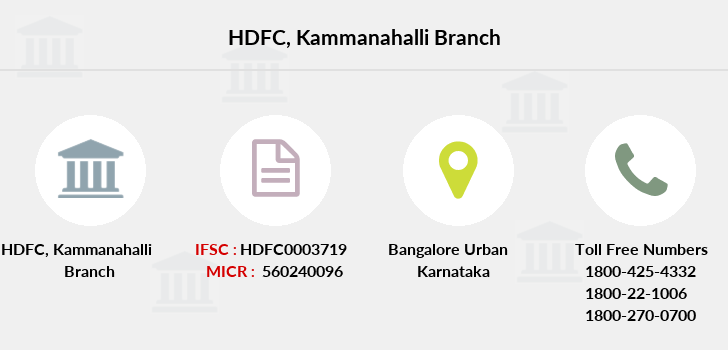 Hdfc-bank Kammanahalli branch