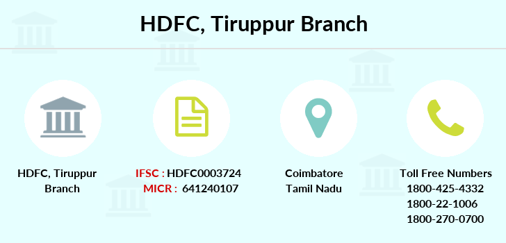 Hdfc-bank Tiruppur branch